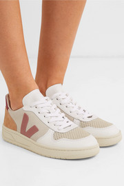 + NET SUSTAIN V-10 mesh, suede and leather sneakers