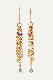 Pippa Small 18-karat gold multi-stone earrings