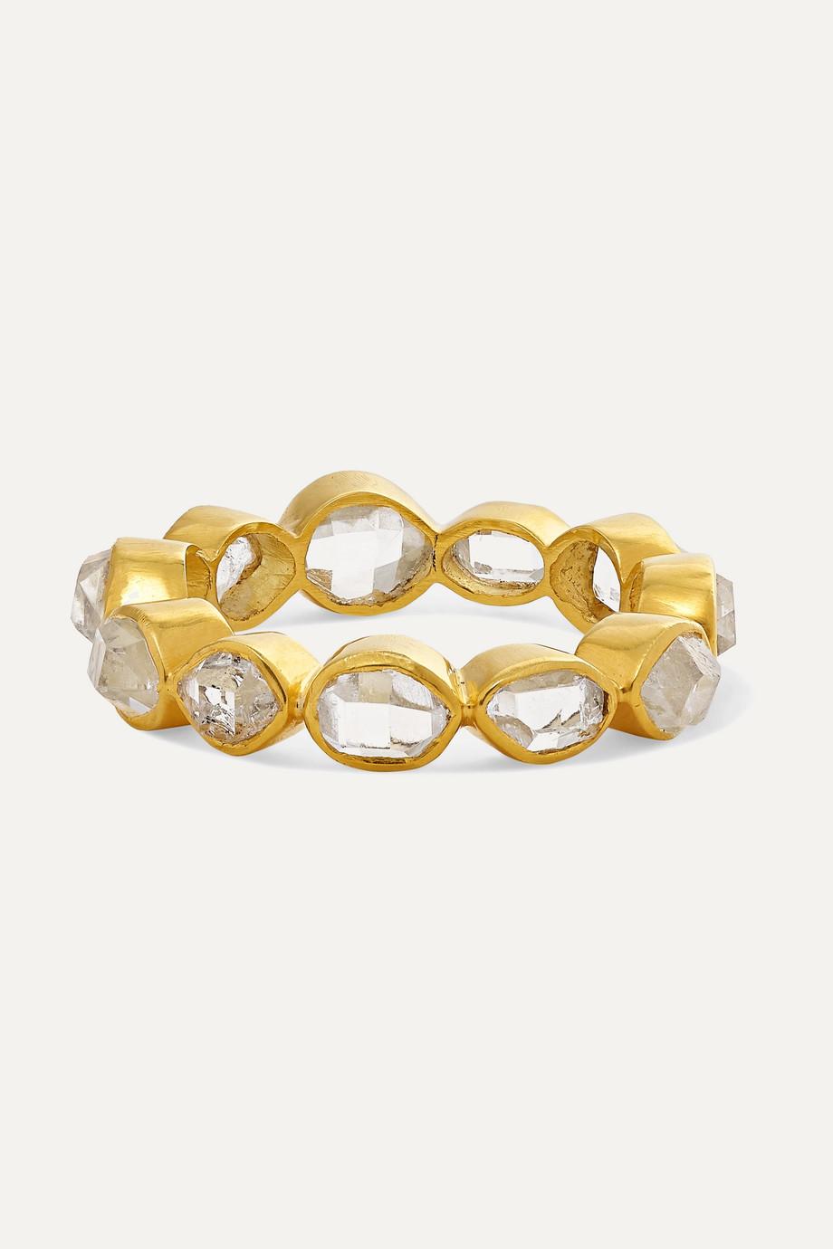Pippa Small Crystallinity 18-karat gold Herkimer diamond ring