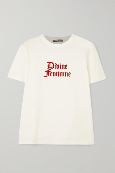 meilleure valeur ce7d4 40cfa International Women's Day flocked cotton-jersey T-shirt