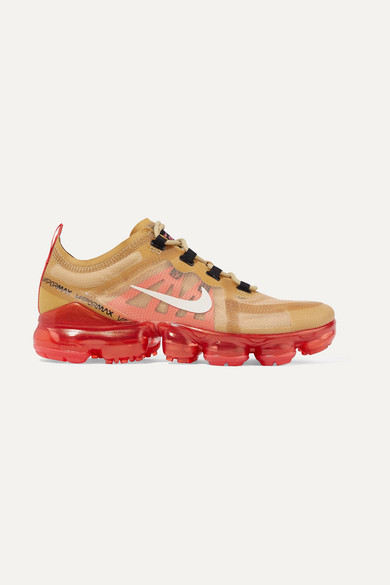 Air Vapormax 2019 Mesh And Pvc Sneakers in Gold