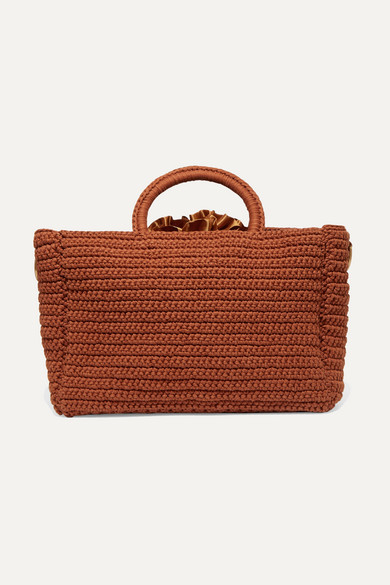 MIZELE   Mizele - Muzelle Crocheted Cotton Tote - Brown   Goxip