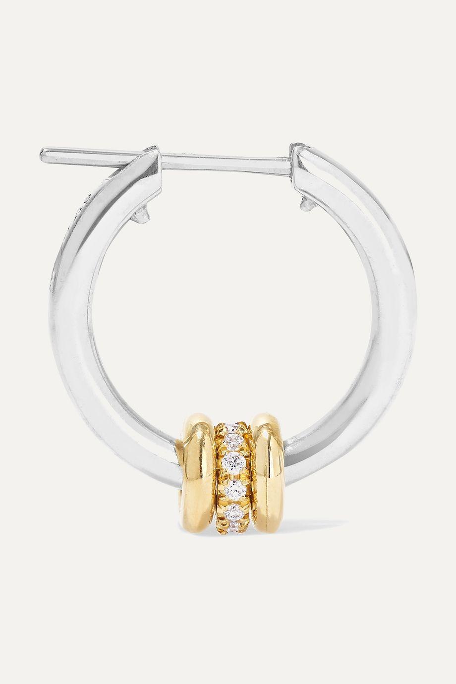 Spinelli Kilcollin Ara Creolen aus Sterlingsilber und 18 Karat Gold mit Diamanten