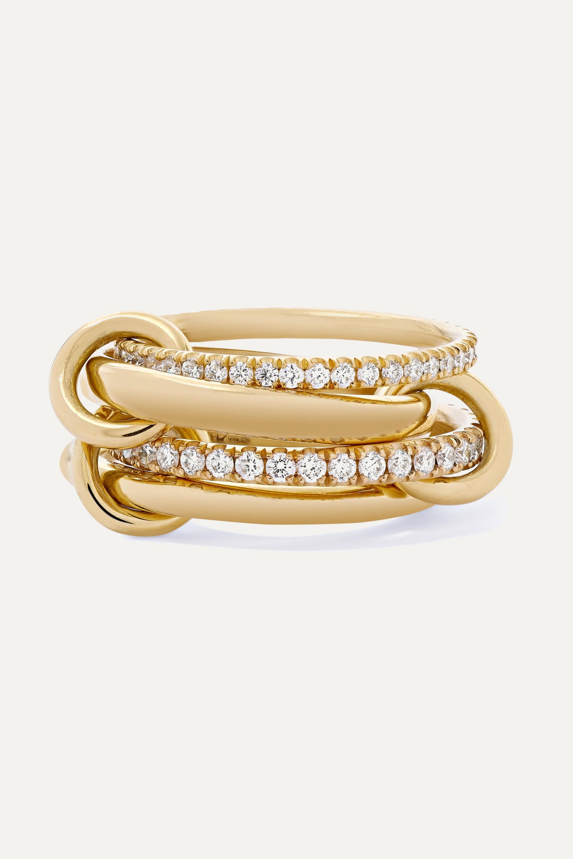 Spinelli Kilcollin Polaris set of four 18-karat gold diamond rings