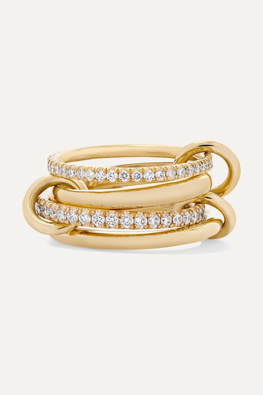 Spinelli Kilcollin Polaris 18K 黄金钻石四环戒指