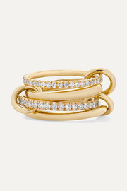 Polaris set of four 18-karat gold diamond rings