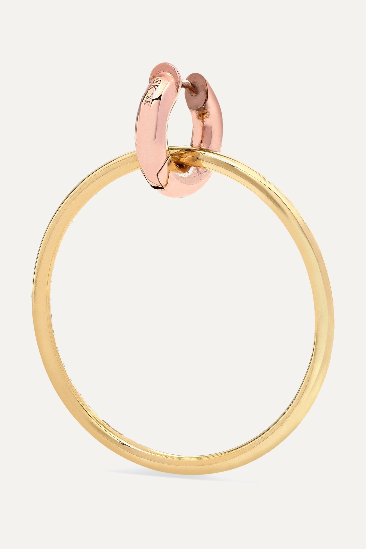 Spinelli Kilcollin Casseus 18-karat yellow and rose gold diamond earrings