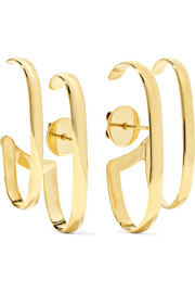 Double Lauren 18-karat gold earrings