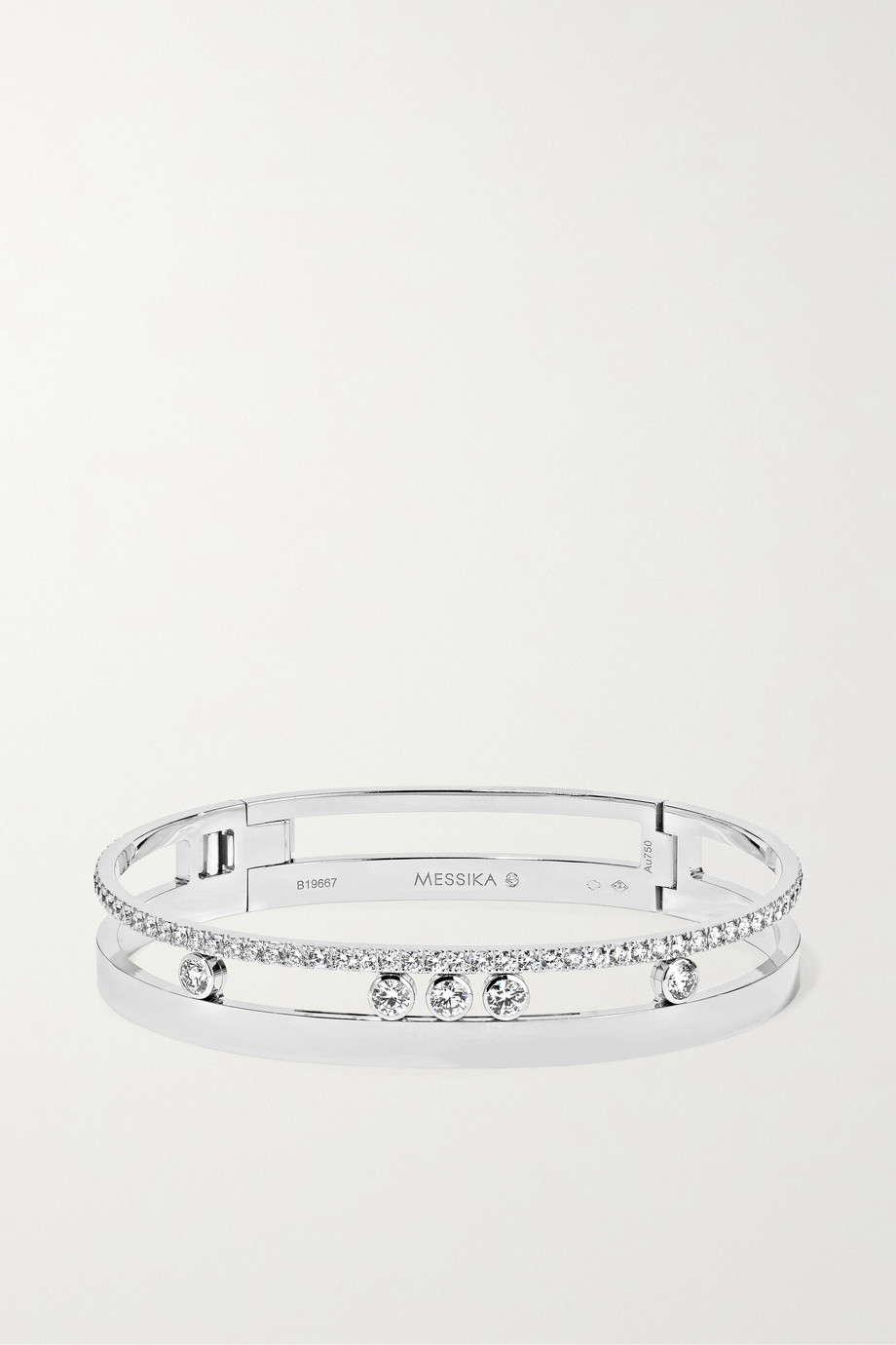Messika Bracelet en or blanc 18 carats et diamants Move Romane
