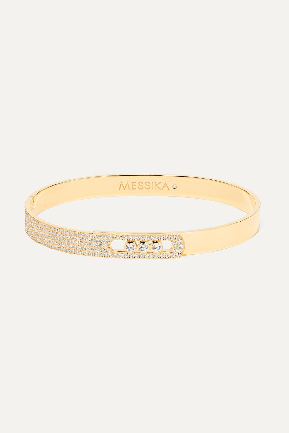 Messika Bracelet jonc en or 18 carats et diamants Move Noa