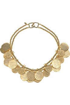 Kenneth Jay Lane | 22-karat gold-plated coin necklace | NET-A-PORTER.COM