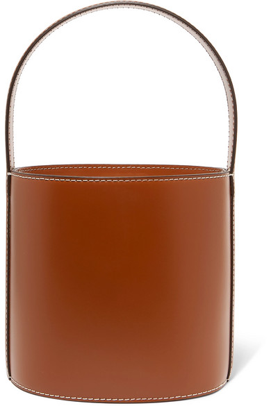 Bissett Leather Bucket Bag in Tan