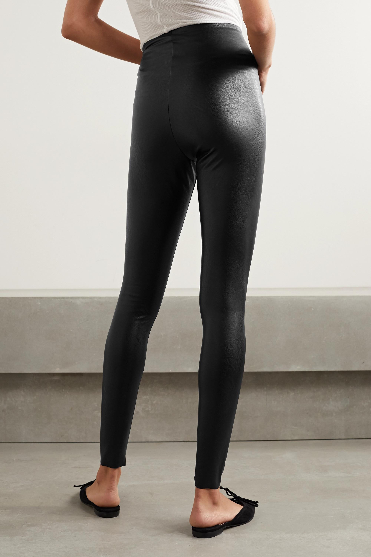 Commando Faux stretch-leather leggings