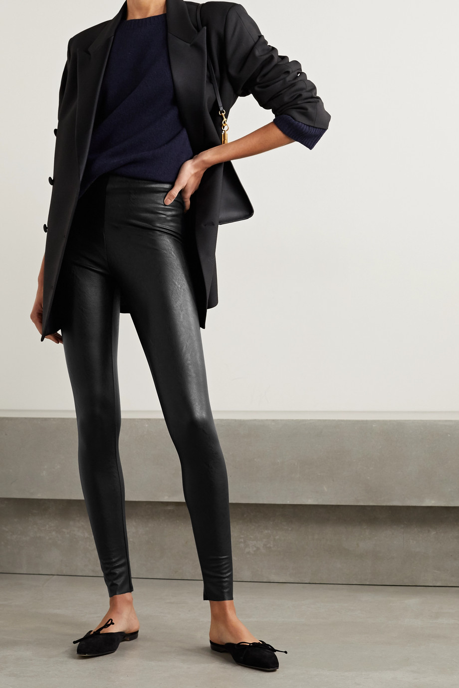Commando Faux stretch-leather leggings