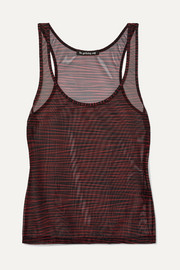 Les Girls Les Boys Zebra-print stretch-tulle camisole