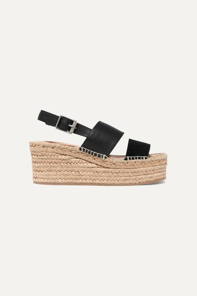 48f4463fb77 Edie leather and suede espadrille wedge sandals
