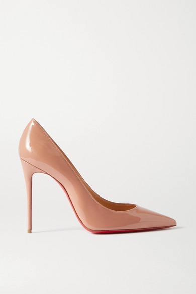 Pigalle Follies 85 Beige Patent Pumps in Neutral