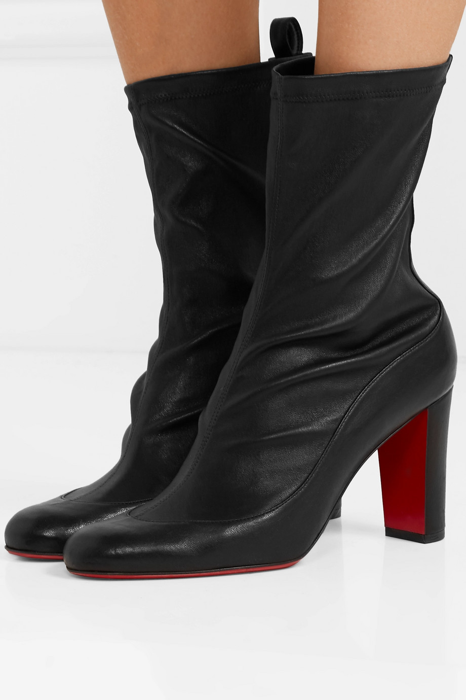 Christian Louboutin Gena 85 stretch-leather sock boots