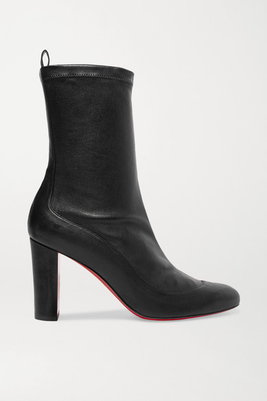 Gena 85 Stretch Leather Sock Boots by Christian Louboutin