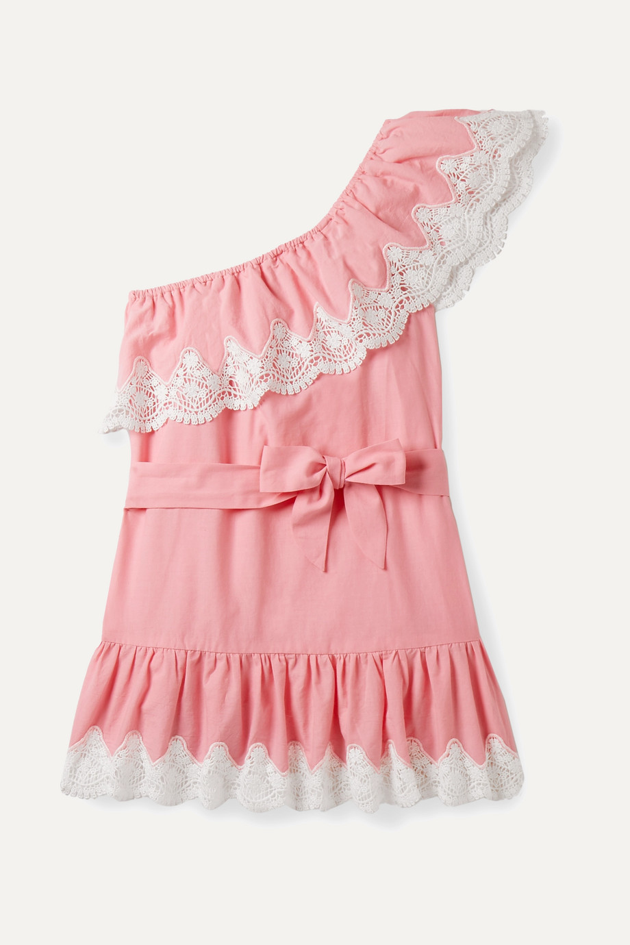 Miguelina Kids Ages 4 - 12 Summer one-shoulder crocheted cotton dress