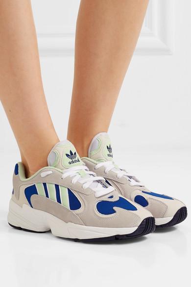 adidas Originals | Yung 1 mesh and nubuck sneakers | NET A
