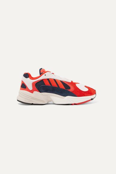 Yung 1 nubuck and mesh sneakers