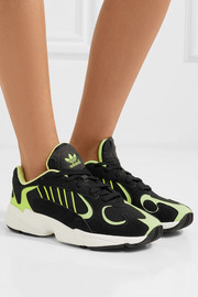 Yung-1 neon suede and mesh sneakers
