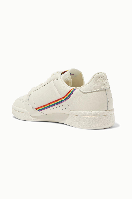 adidas Originals Continental 80 Pride Sneakers aus strukturiertem Leder mit Ripsbandbesatz
