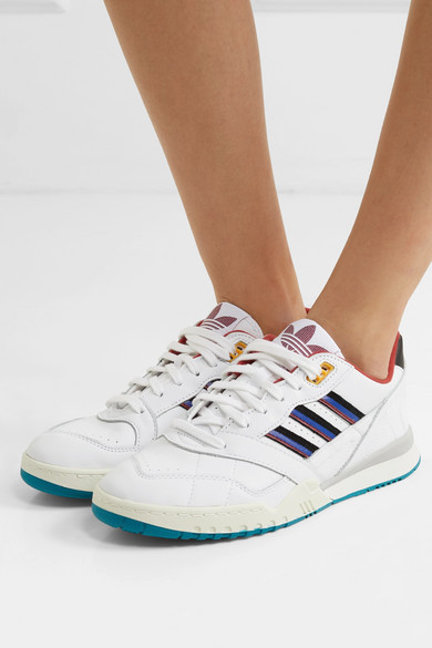 adidas Originals | A.R. Trainer grosgrain trimmed leather