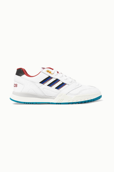 A.R. Trainer Grosgrain Trimmed Leather Sneakers by Adidas Originals