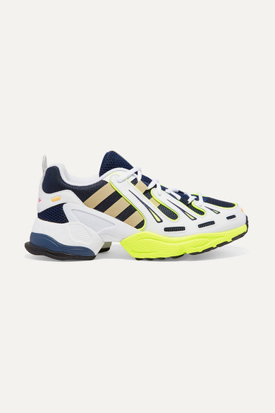 new style cheap for discount so cheap EQT Gazelle rubber-trimmed leather and mesh sneakers