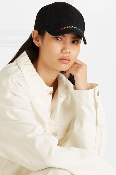Balenciaga Hats Embroidered cotton-twill baseball cap