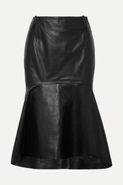 Balenciaga Fluted leather skirt