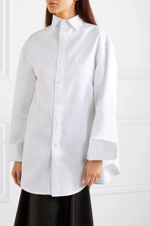 Balenciaga Oversized cotton-twill shirt