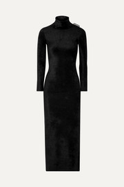 Balenciaga Stretch-velvet turtleneck maxi dress