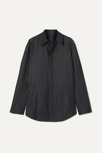 Balenciaga Knits Pinstriped wool and cashmere-blend shirt