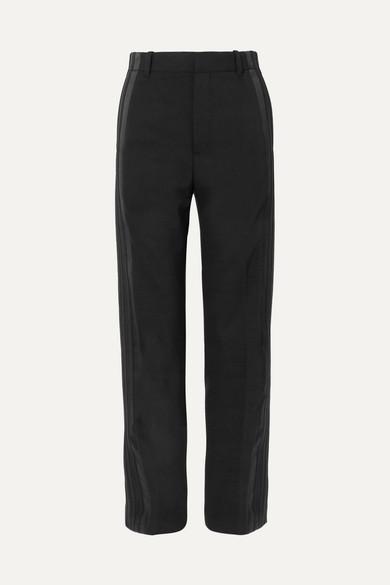 Balenciaga Knits Satin-trimmed crepe straight-leg pants