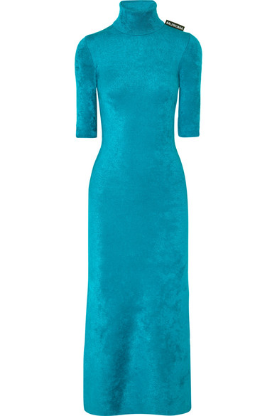 dcc26f40592 Balenciaga. Stretch-velvet turtleneck midi dress