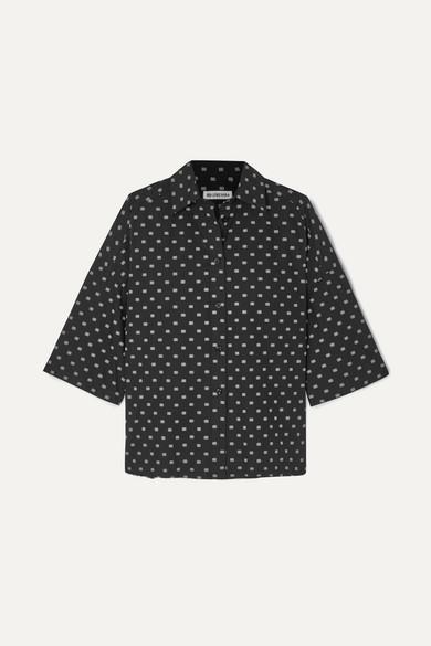 36c24d69e698 Balenciaga   Vareuse oversized printed cotton-poplin shirt   NET-A ...