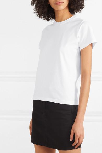 Balenciaga Shirts Tattoo embroidered cotton-jersey T-shirt