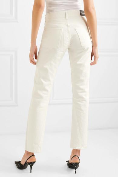 Balenciaga Jeans Twisted high-rise straight-leg jeans