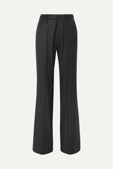 Balenciaga Pants Pinstriped wool and cashmere-blend pants