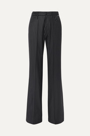 Pinstriped wool and cashmere-blend pants