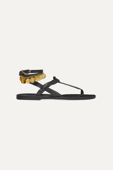 Estia Flouria Embellished Leather Sandals by Ancient Greek Sandals