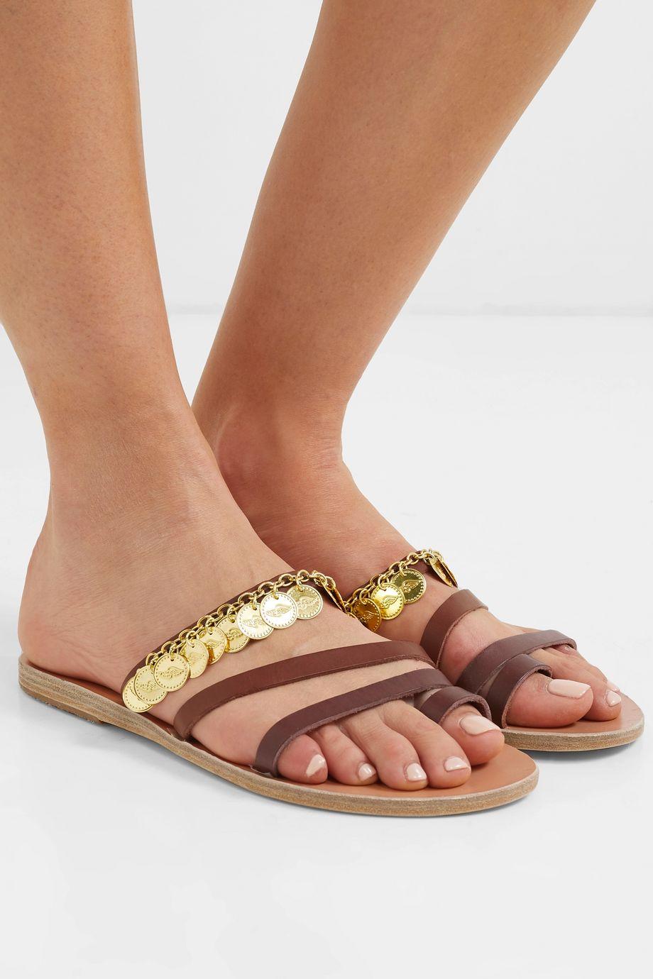 Ancient Greek Sandals Faye embellished leather sandals