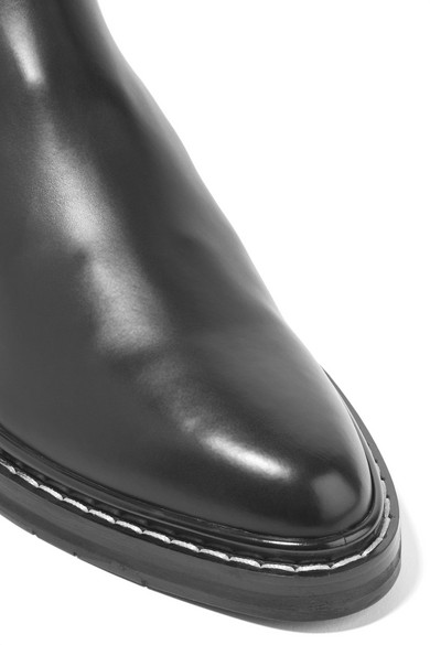 The Row. Fara ribbed cashmere-paneled leather Chelsea boots. £1 bb7fd73729c
