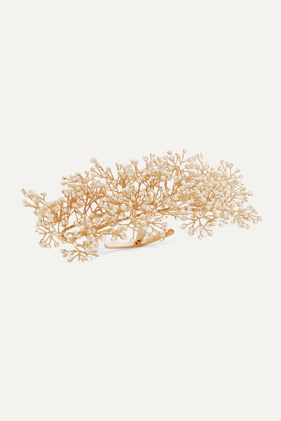 14 / Quatorze Baby's Breath gold-plated pearl ring cuff