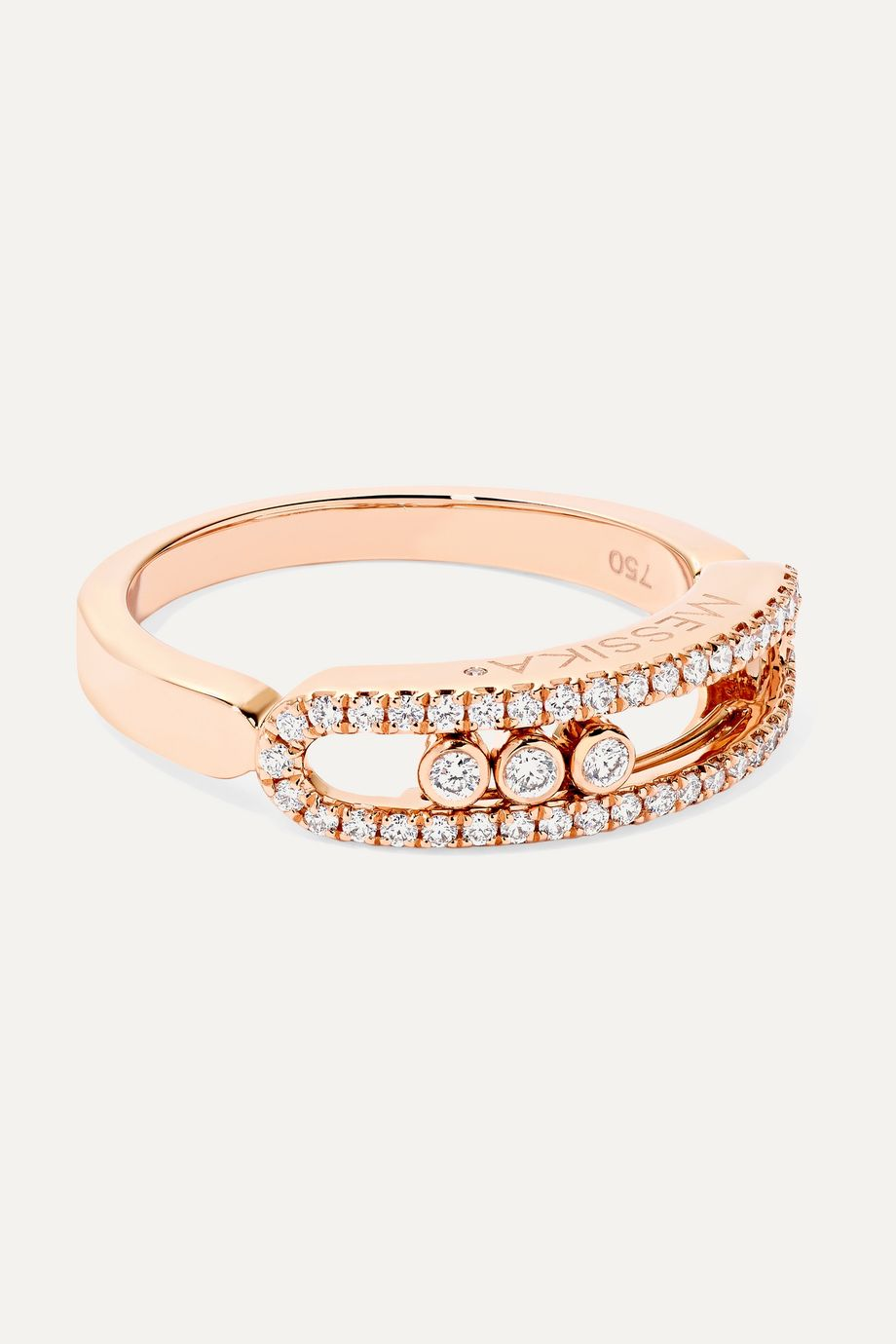 Messika Baby Move 18-karat rose gold diamond ring