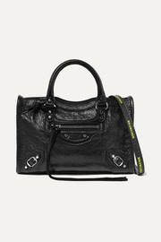 Classic City nano textured-leather shoulder bag
