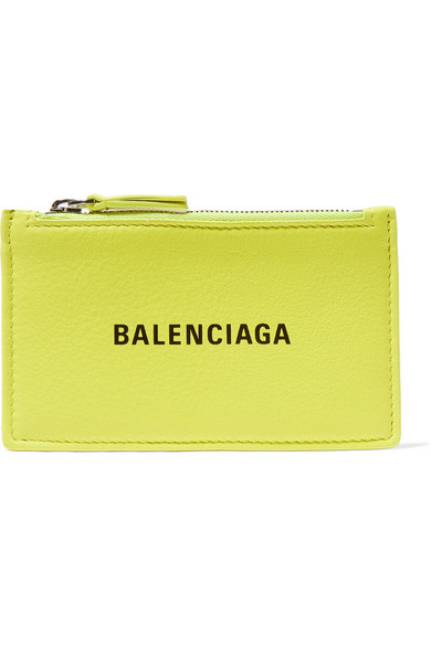 Balenciaga Wallets Everyday printed textured-leather cardholder